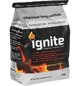 Long burning and perfect for a kettle braai Premium quality, long-lasting briquettes packed into a 4 kg bag.