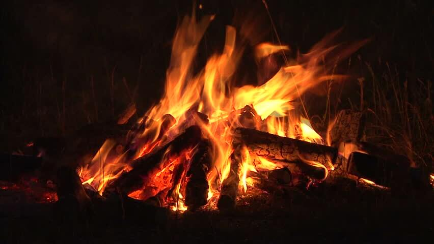 Firewood Delivery - Campfire Background